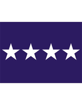 USAF General Flag Header and Grommet 4 Star