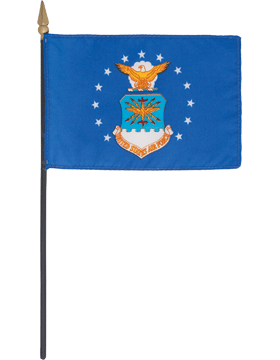 Mini Flag (F-MB02/P) U.S. Air Force 4in x 6in without Fringe