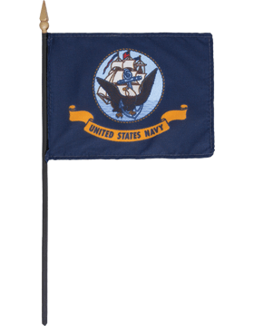 Mini Flag (F-MB03-P) U.S. Navy 4in x 6in without Fringe
