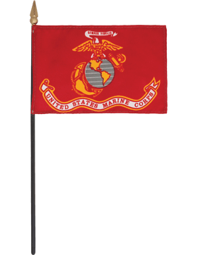 Mini Flag (F-MB04/P) U.S. Marine Corps 4in x 6in without Fringe