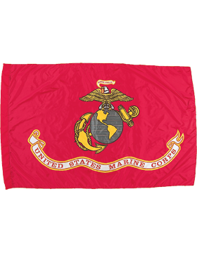 F-MC06D, USMC Flag 4' x 6', Outdoor with out Fringe, Screen Printed