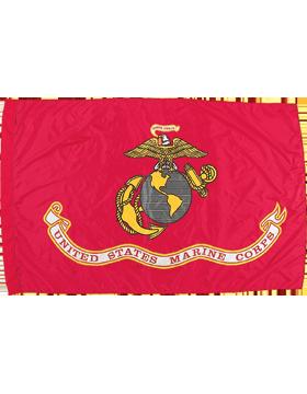 F-MC06E, USMC Flag 3' x 5', Indoor without Fringe, Screen Printed