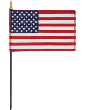 Table Flag (F-MINI-US01/P) United States 4in x 6in without Fringe