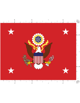 Positional Flag F-P/2-01 Secretary of the Army 4 ft 4 in x 5 ft 6 in
