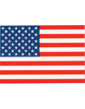 US Flag with Header, Cotton Outdoor Flags