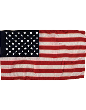 US Flags with Header, Spun Polyester Outdoor Flags