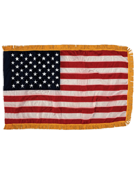 US Flags with Fringe, Rayon Parade Flags