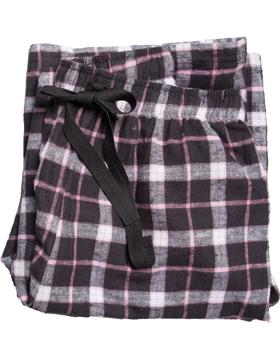 Flannel Pajama Pant F19 Black/Pink