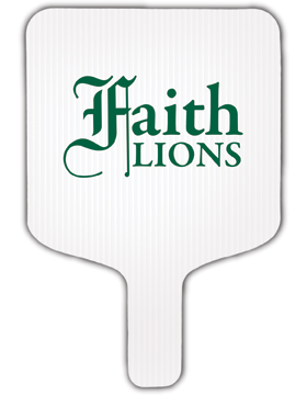 Faith Lions Hand Fan
