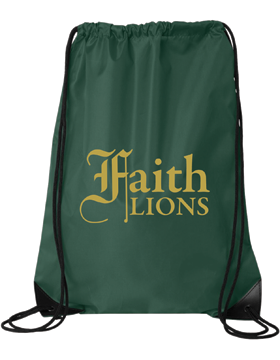 Faith Lions Drawstring Pack