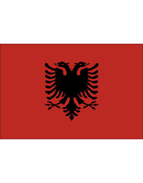Indoor Flag Albania (3) 4'x6' No Fringe