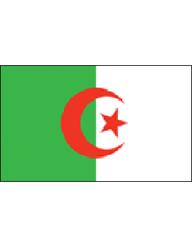 Indoor Flag Algeria (3) 4'x6' No Fringe