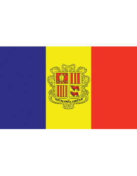 Indoor Flag Andorra (1) 3'x5'  No Fringe