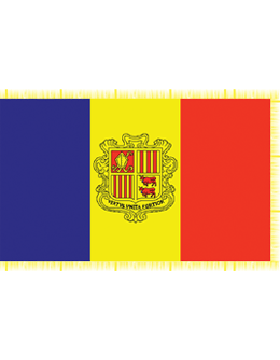 Indoor Flag Andorra (4) 4'x6' With Fringe
