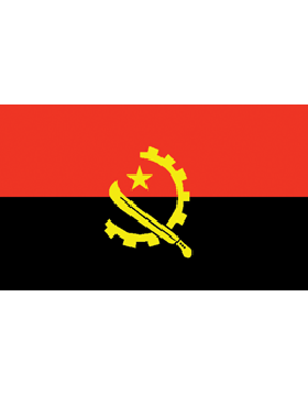 Indoor Flag Angola (1) 3'x5' No Fringe