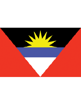 Indoor Flag Antigua & Barbuda (3) 4'x6' No Fringe