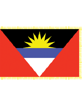 Indoor Flag Antigua & Barbuda (2) 3'x5' With Fringe