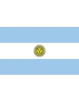 Indoor Flag Argentina (1) 3'x5' No Fringe