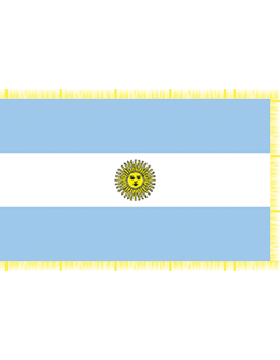 Indoor Flag Argentina (2) 3'x5' With Fringe