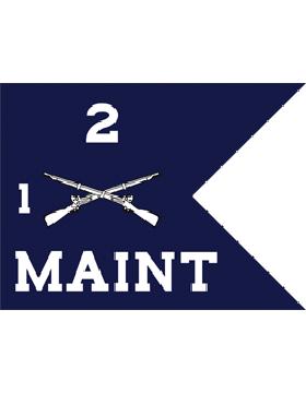 Army Guidon 6-26 Named TOECompanies Batallion of Regt Specify Unit