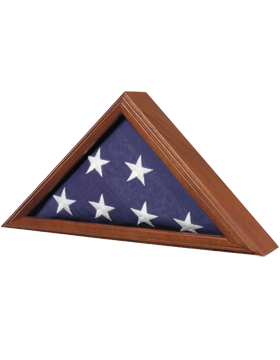 FLAG CASE-06B CAPITOL FLAG CASE WALNUT FOR 3' X 5' FLAG