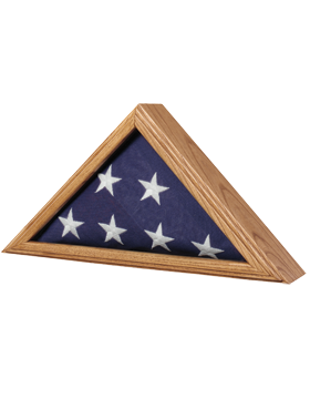 FLAG CASE-06C CAPITOL FLAG CASE OAK FOR 3' X 5' FLAG