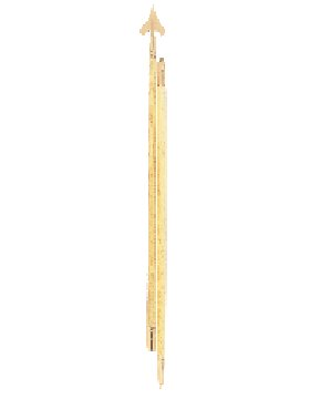 7 ft. Government Spec Guidon Pole with Spear and Bottom Ferrule