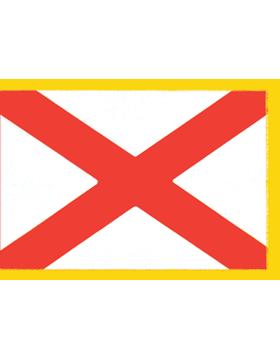 Alabama State Flag Indoor Pole Hem with Fringe