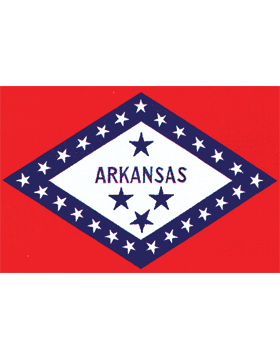 Arkansas State Flag Indoor Pole Hem Plain