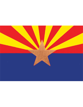 Arizona State Flag Indoor Pole Hem Plain
