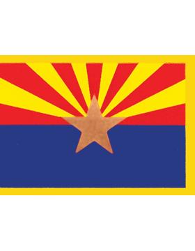 Arizona State Flag Indoor Pole Hem with Fringe