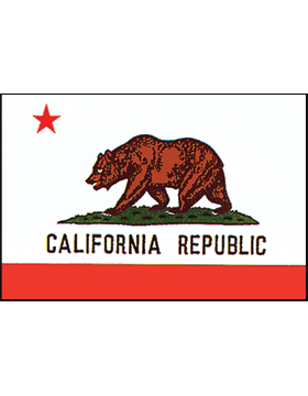 California State Flag Indoor Pole Hem Plain