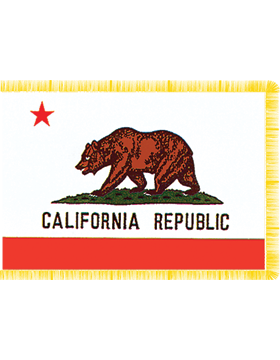 California State Flag Indoor Pole Hem with Fringe