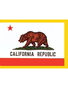 California State Flag Indoor Pole Hem with Fringe