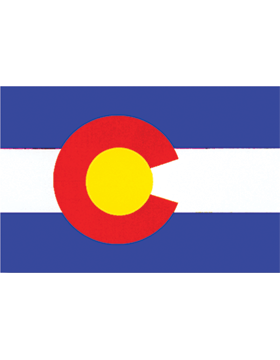 Colorado State Flag Indoor Pole Hem Plain