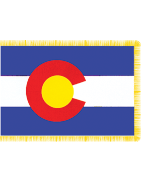 Colorado State Flag Indoor Pole Hem with Fringe