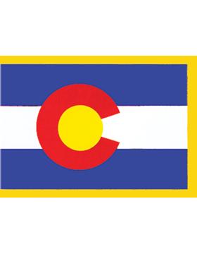 Colorado State Flag Indoor Pole Hem with Fringe