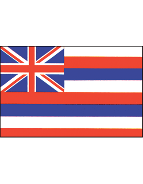 Hawaii State Flag Indoor Pole Hem Plain