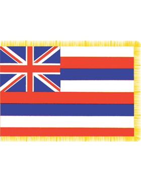 Hawaii State Flag Indoor Pole Hem with Fringe
