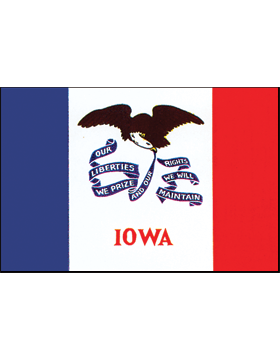 Iowa State Flag Indoor Pole Hem Plain