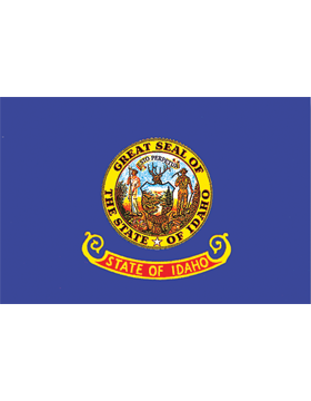 Idaho State Flag Outdoor Header & Grommet Plain