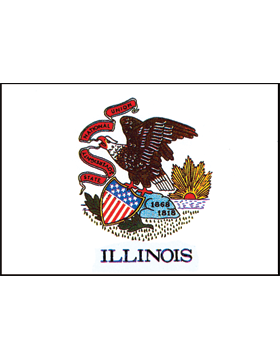 Illinois State Flag Outdoor Header & Grommet Plain