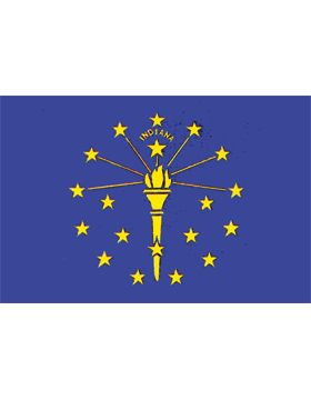 Indiana State Flag Outdoor Header & Grommet Plain