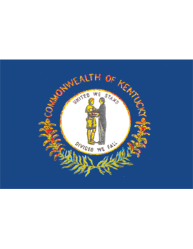 Kentucky State Flag Outdoor Header & Grommet Plain
