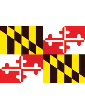 Maryland State Flag Outdoor Header & Grommet Plain