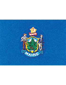 Maine State Flag Outdoor Header & Grommet Plain