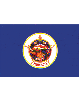 Minnesota State Flag Outdoor Header & Grommet Plain