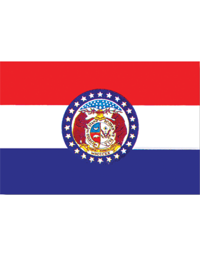 Missouri State Flag Outdoor Header & Grommet Plain