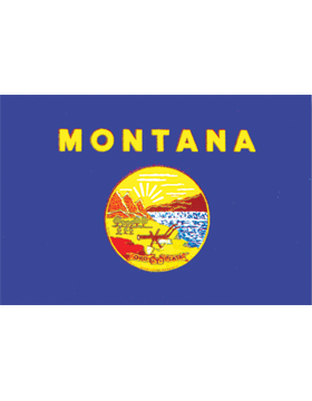 Montana State Flag Outdoor Header & Grommet Plain
