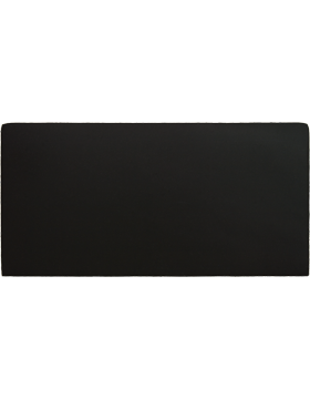 FT-103-A, Black 2in x 4in Blank Leather with out fastener
